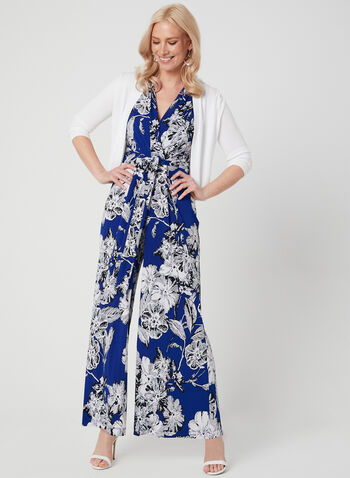 Jessica Howard - Floral Print Jumpsuit, Blue, hi-res