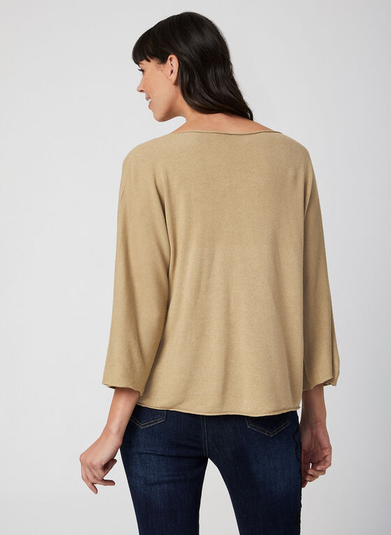 Made in Italy - Batwing Sleeve Sweater, Brown, hi-res
