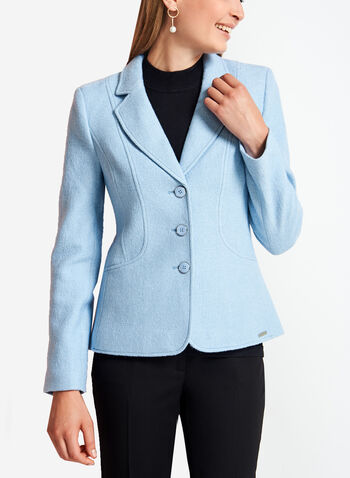 Three-Button Wool Jacket, , hi-res