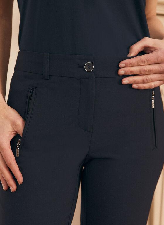 Pantalon coupe cité à jambe droite, Bleu