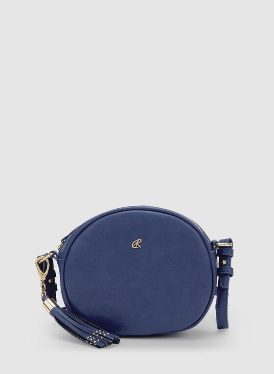 Round Crossbody Bag, Blue