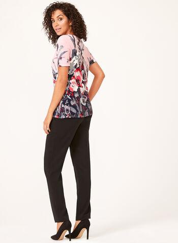 Short Sleeved Floral Tops, Multi, hi-res