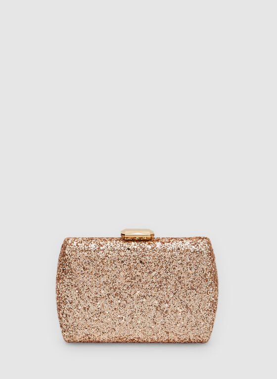 Glitter Box Clutch, Pink, hi-res