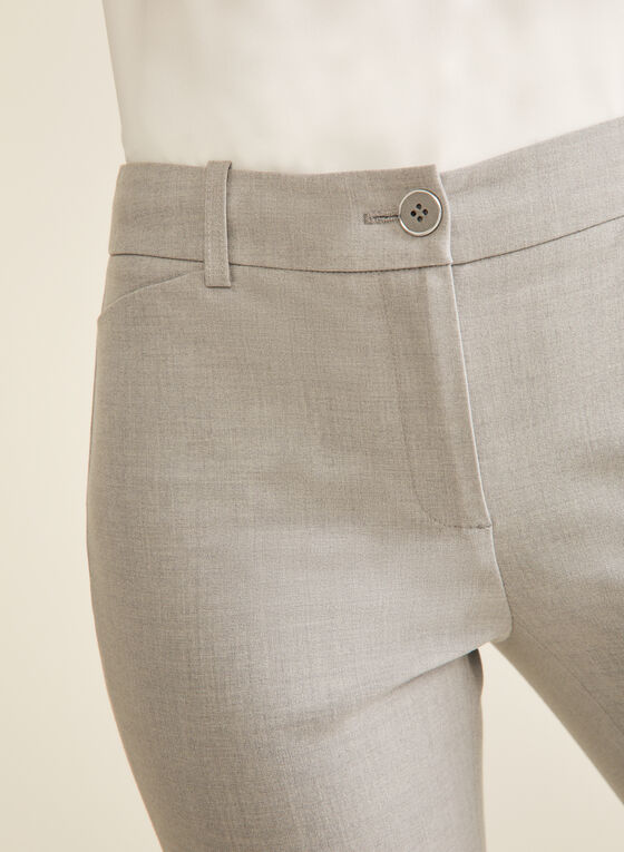Modern Fit Straight Leg Pants , Grey