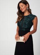 Lace Bodice Dress, Black