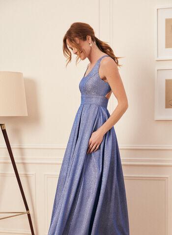 Sleeveless Metallic Pleated Gown , Blue,  dress, prom dress, prom dresses, glitter prom dress,metallic prom dress, sleeveless prom dress, sleeveless,glitter, metallic, prom 2021