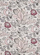Foulard à imprimé floral et bordure contrastante, Gris, hi-res