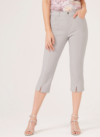 Simon Chang –Signature Fit Straight Leg Capri, Grey, hi-res