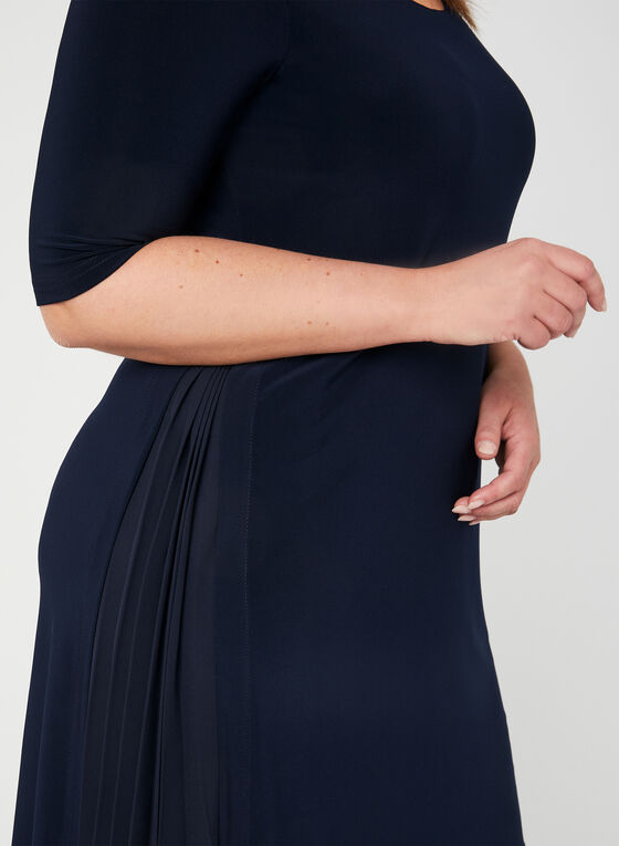Joseph Ribkoff - Robe droite à effet plissé, Bleu, hi-res
