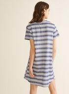 Claudel Lingerie - Striped Print Nightshirt, Blue