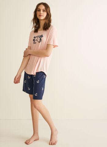 Claudel Lingerie - Ensemble pyjama nautique, Rose,  printemps été 2020, pyjama, Claudel Lingerie