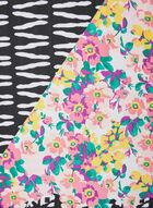 Foulard léger motif fleur et abstrait, Rose