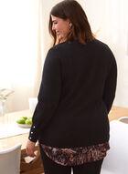 Animal Print Fooler Sweater, Black