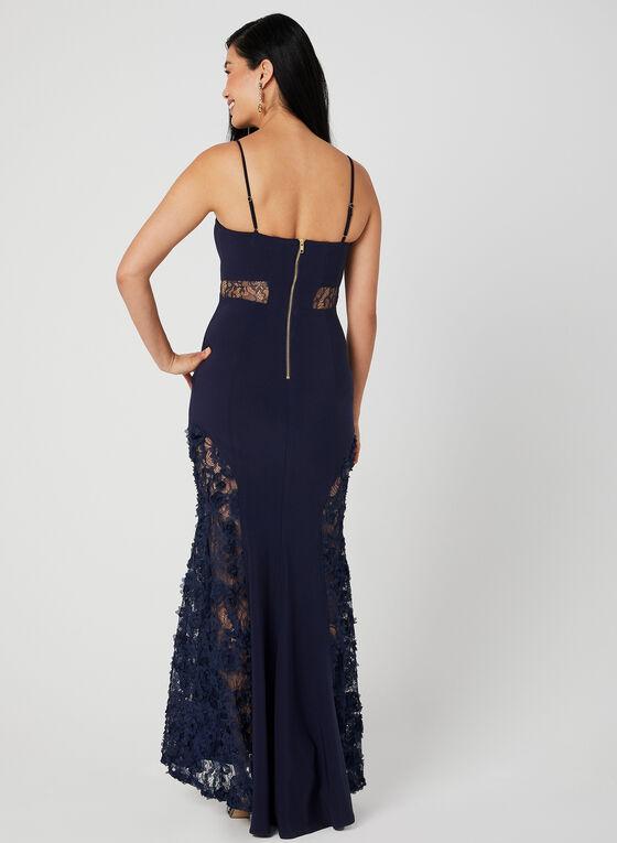 Lace Embellished Mermaid Dress, Blue, hi-res