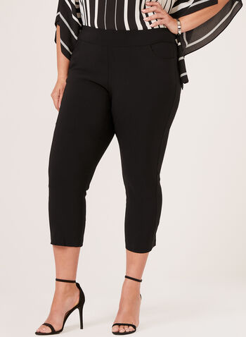 Pull-On Capris , Black, hi-res