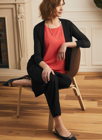 Sleeveless Crepe Blouse , Red,  blouse, sleeveless, crepe, layered, spring 2020