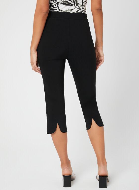 Bengaline Capri Pants, Black