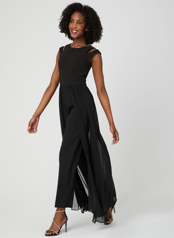 Wide Leg Jumpsuit, Black, hi-res