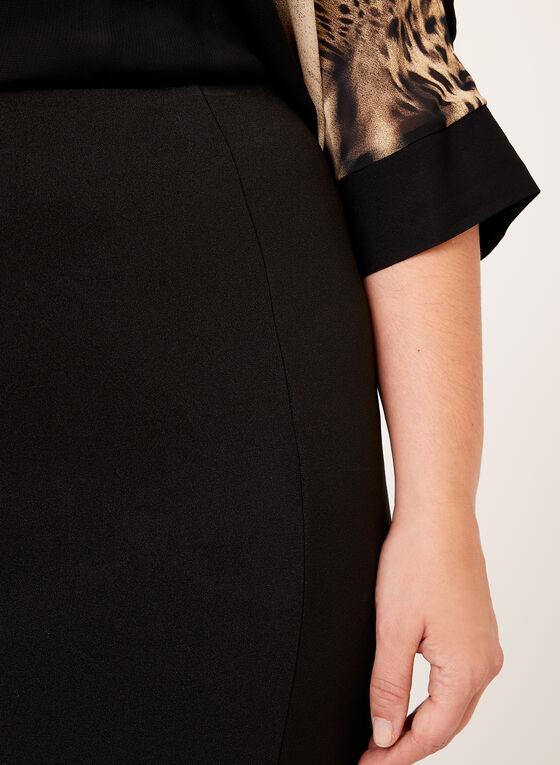 Crepe Layered Ruffle Detail Skirt, Black, hi-res