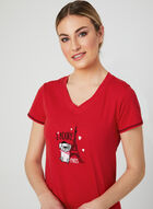 René Rofé - Dog Appliqué Nightshirt, Red, hi-res