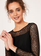 Dot Illusion Detail Jersey Top, Black, hi-res