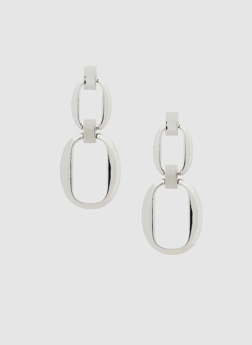 Boucles d'oreilles à pendants rectangulaires, Jaune, hi-res