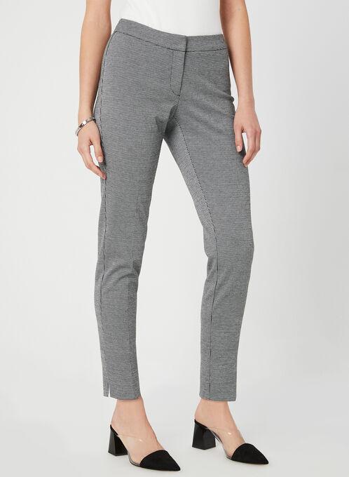 Pantalon à motif pied-de-poule, Noir, hi-res