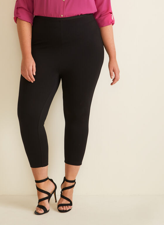 Legging capri en point de Rome, Noir