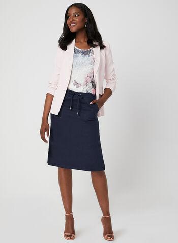 Floral Print Burnout T-Shirt, Blue, hi-res,  short sleeves, t-shirt, burnout, floral print, spring 2019, summer 2019