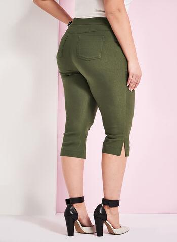 Modern Fit Bengaline Capri Pants, Green, hi-res