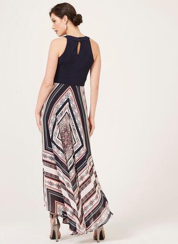 Paisley Print Maxi Dress, Blue, hi-res