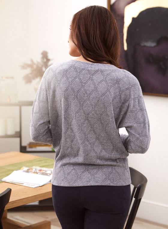 Diamond Pattern Jacquard Sweater, Grey
