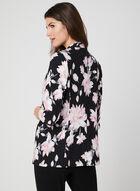 Veste structurée à imprimé floral, Noir, hi-res