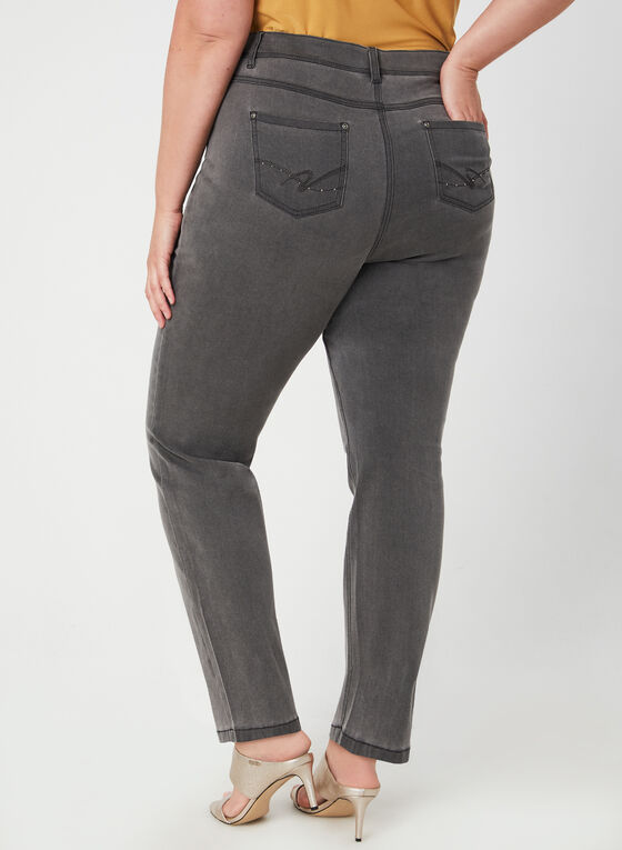 Signature Fit Straight Leg Jeans, Grey