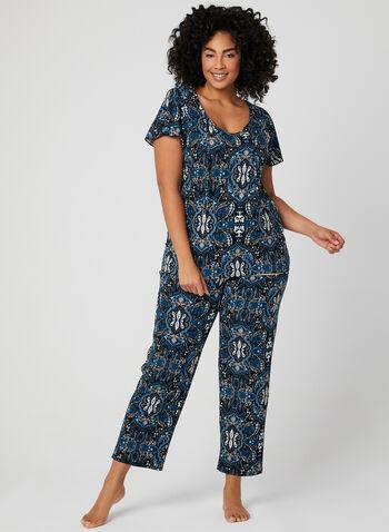 Hamilton - Pyjama deux pièces à imprimé cachemire, Bleu, hi-res