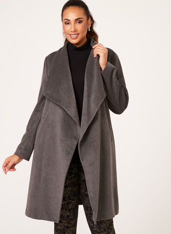 Cascade Front Coat, Grey, hi-res