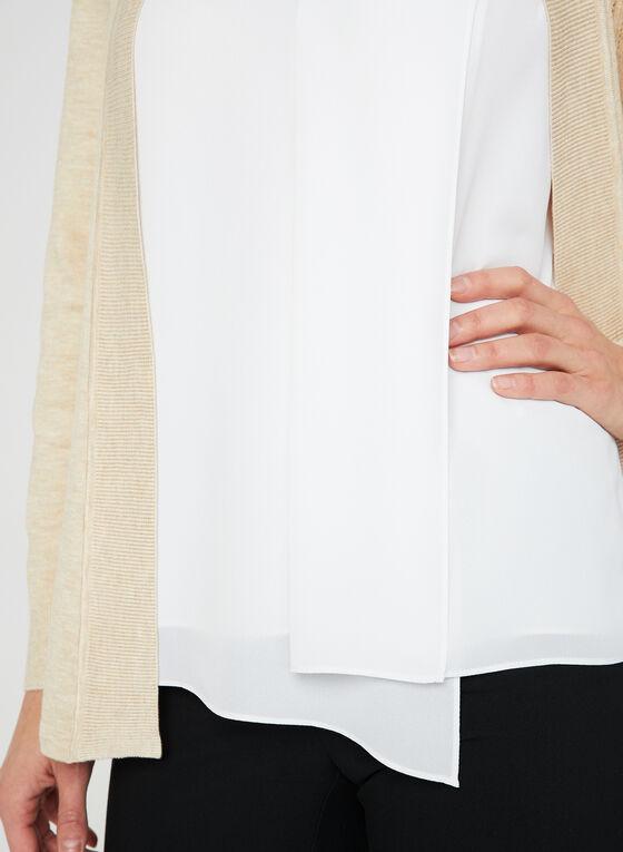 Asymmetric Sleeveless Blouse, Off White, hi-res