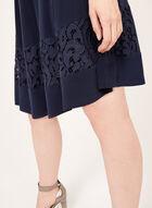 Jessica Howard - Lace Detail Fit & Flare Dress, Blue, hi-res