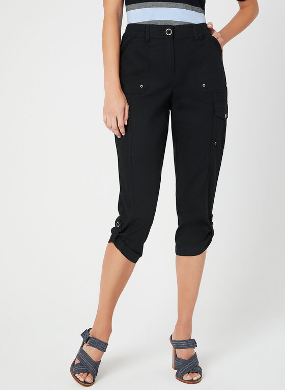 Modern Fit Capri Pants, Black