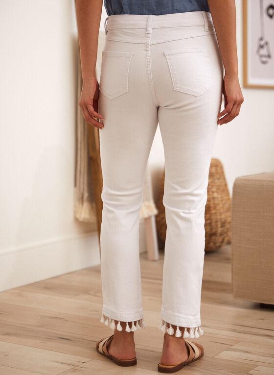 Charlie B - Pom Pom Ankle Jeans, White