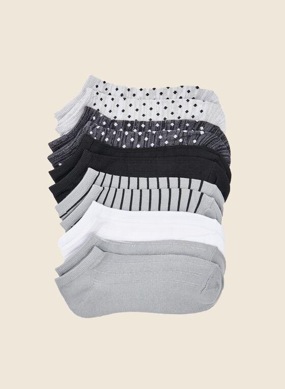 Christian Siriano - Chaussettes à la cheville avec imprimés (6 paires), Gris