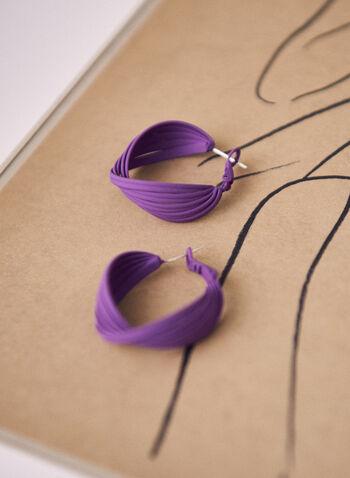 Open Twist Hoop Earrings, Purple,  earrings, hoop, open, twist, spring summer 2021
