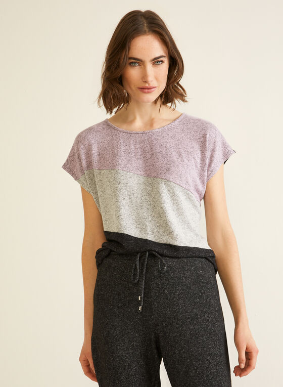 Colour Block Top, Grey