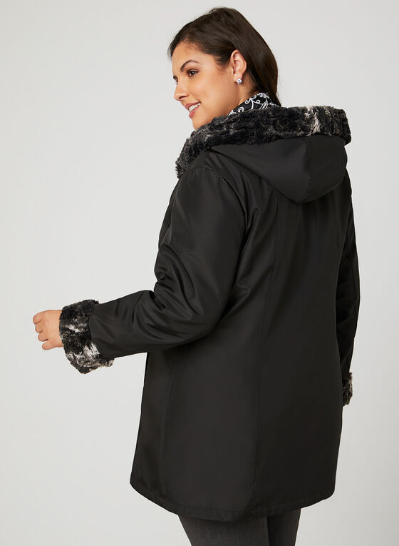 Reversible A-Line Coat, Black