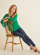 Ankle Length Slim Leg Jeans , Blue