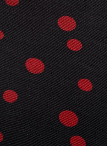 Reversible Polka Dot Print Scarf, Black, hi-res