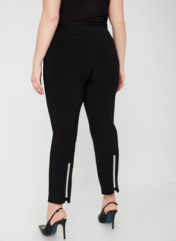 Joseph Ribkoff - City Fit Pull-On Pants, Black, hi-res,  fall winter 2019, city fit, slim leg, crystal details