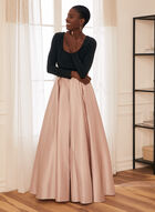 Long Sleeve Ball Gown, Black