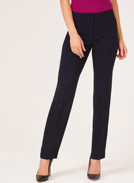 Pantalon coupe moderne jambe droite, Bleu, hi-res