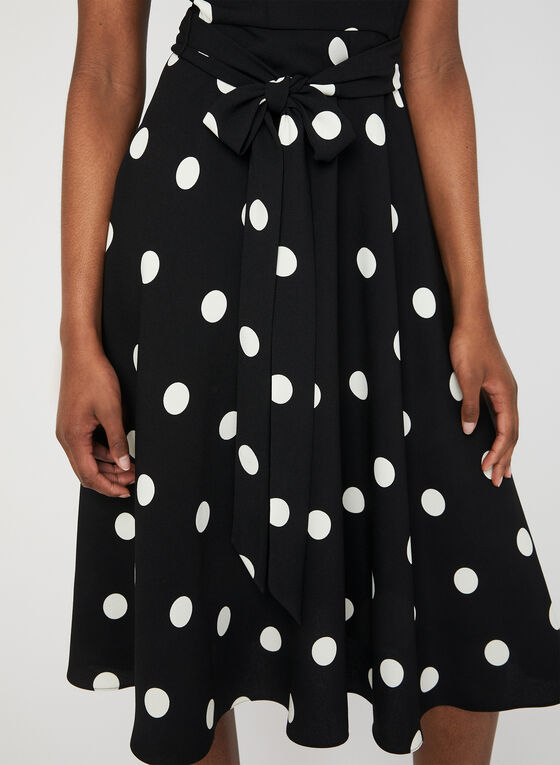 Polka Dot Dress, Black, hi-res